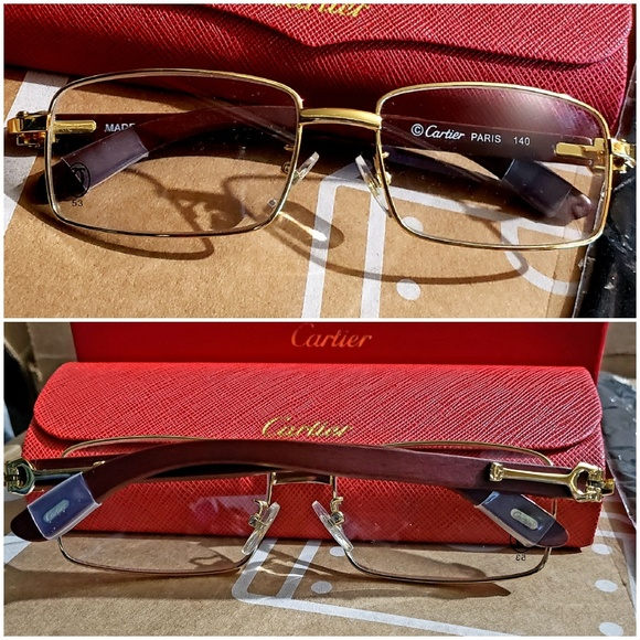 db3399d6ac6 Cartier Other - Cartier glasses. Wood with gold trim.